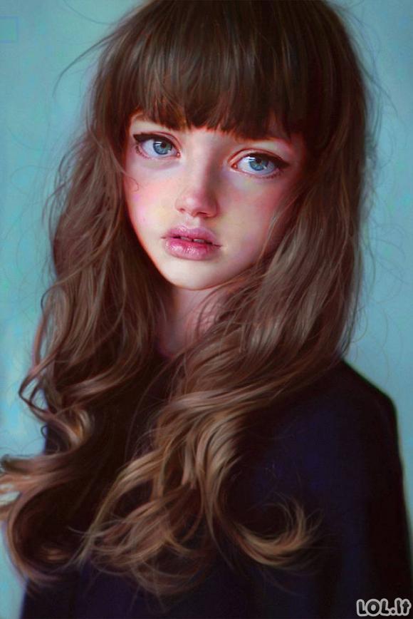 Hiper-realistiški portretai