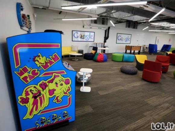 Kaip atrodo darbas Google ofisuose