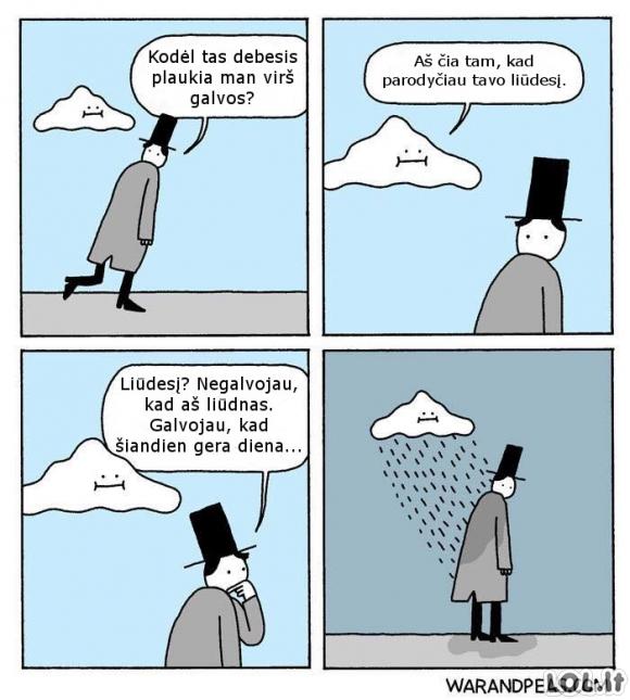 Piktas debesėlis