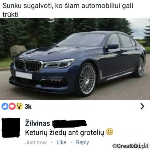 AUDI vairuotojo komentaras apie BMW
