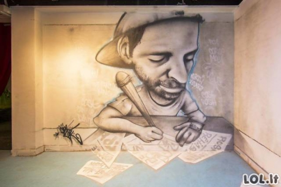 Mokykla Prancūzijoje buvo išdažyta įspūdingais grafičiais