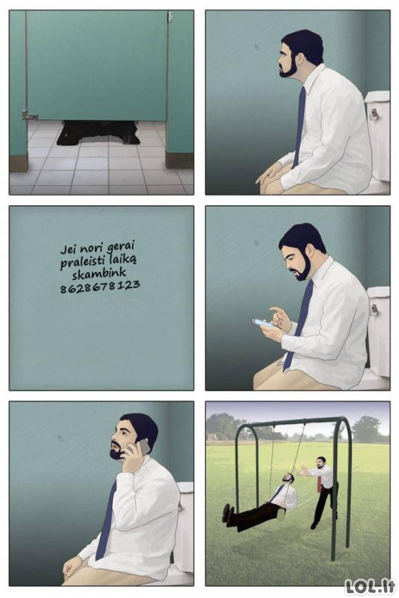 Netikėtas atradimas viešajame tualete