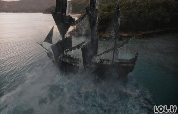 """Kaip atrodė """"Karibų Piratų"""" užkulisiai"""