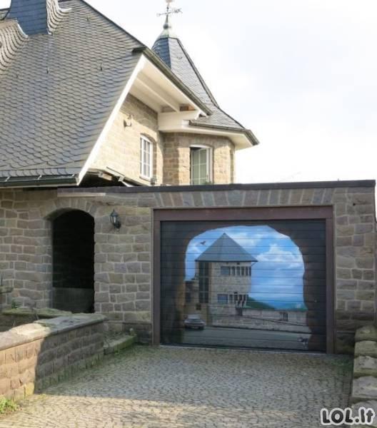 Originaliausios garažo durys