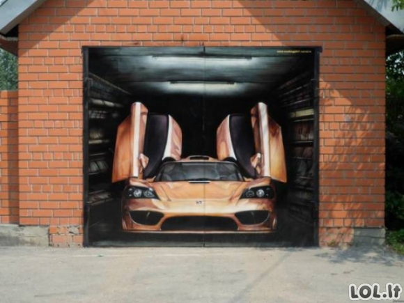 Geros garažų durų idėjos