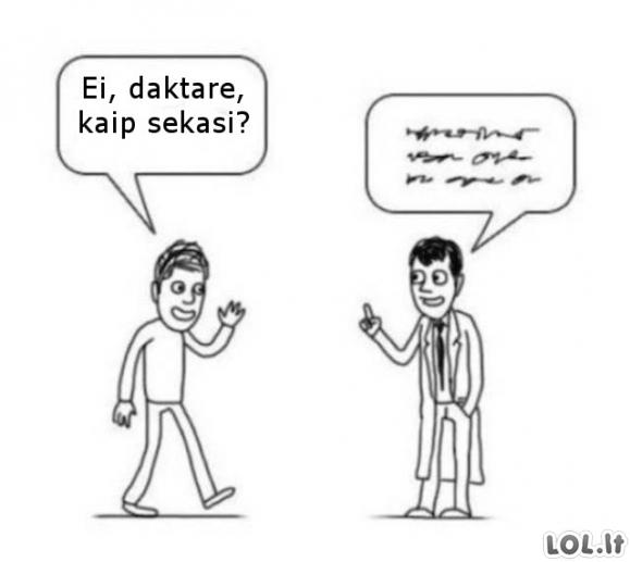 Pokalbis su daktaru