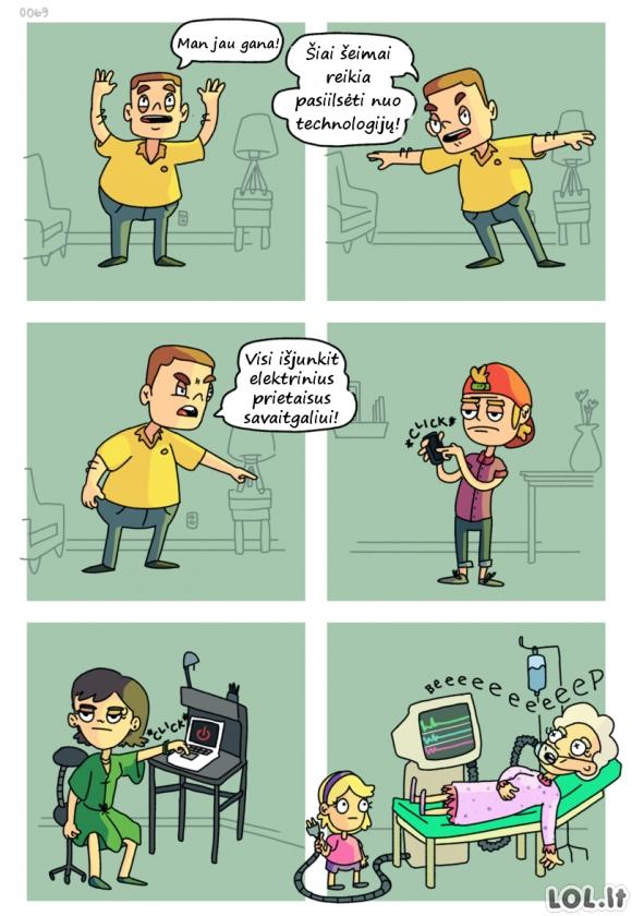 Savaitgalis be technologijų