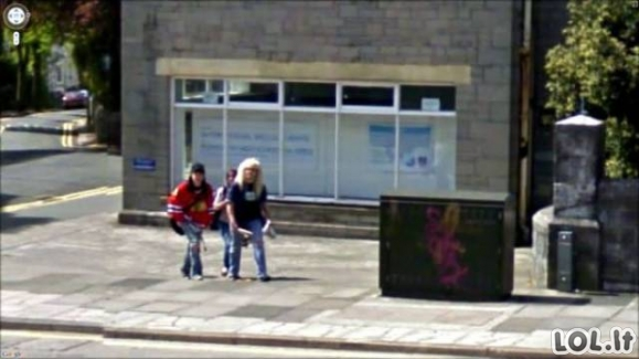 Google Street View kurioziškos nuotraukos