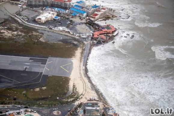 Uragano Irma padariniai