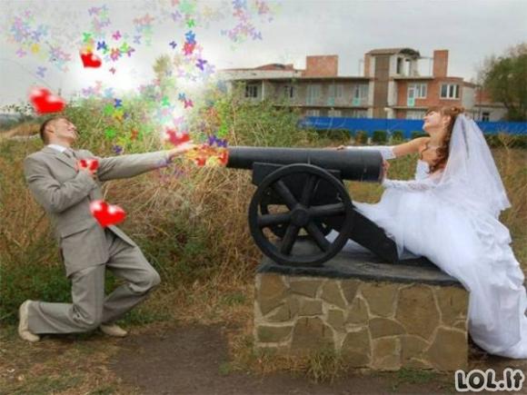 Keisčiausios rusų vestuvių nuotraukos