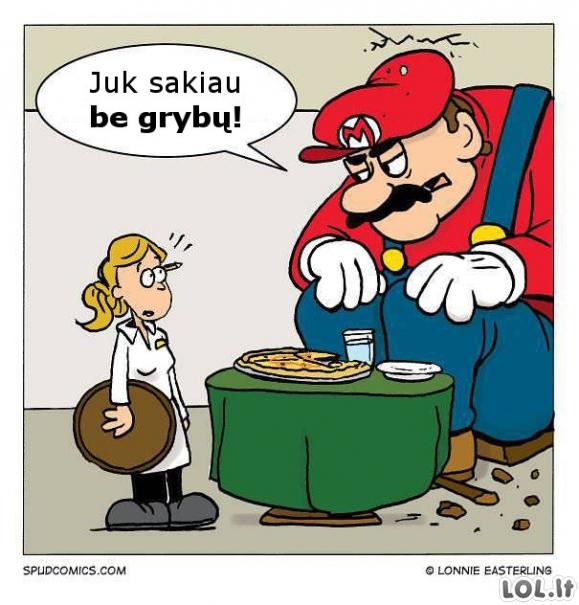 Mario netinkama pica