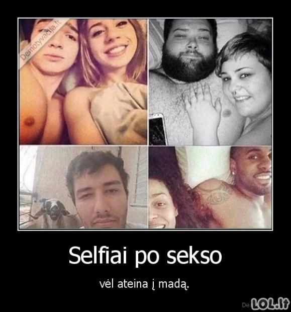 Selfiai po sekso