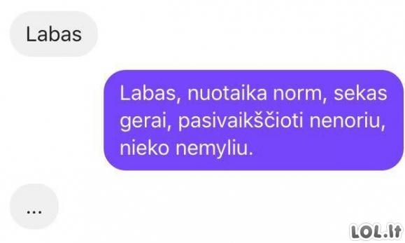 Greitai atsakinėjanti mergina
