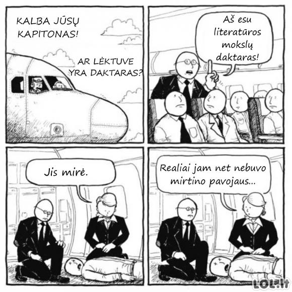 Daktaras lėktuve