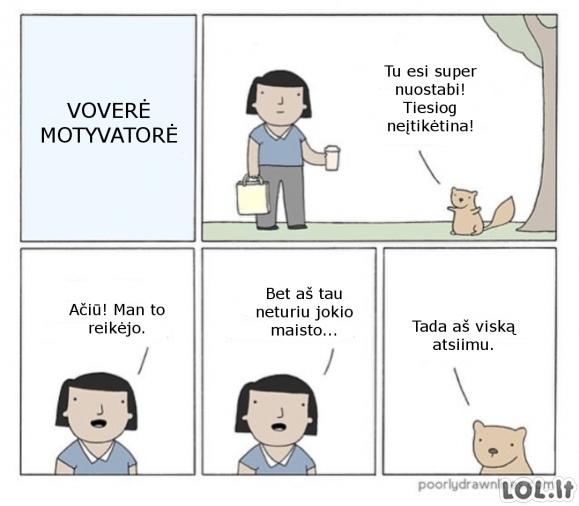 Voverė motyvatorė