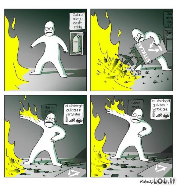 Dilema gaisro atveju
