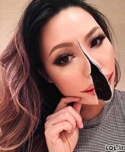 Optinės apgaulės ant veido