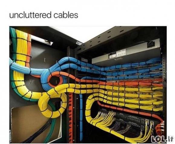Idealiai atrodantys kabeliai