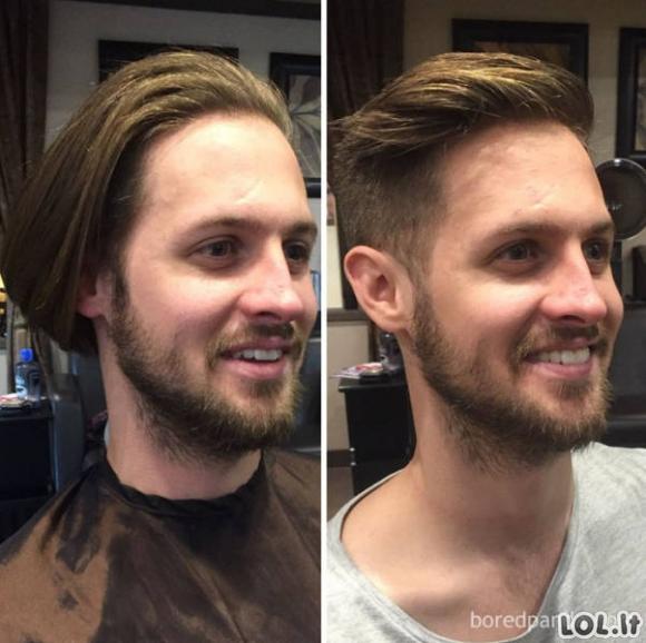 Kaip gera šukuosena gali visiškai pakeisti vyrų išvaizdą [GALERIJA]