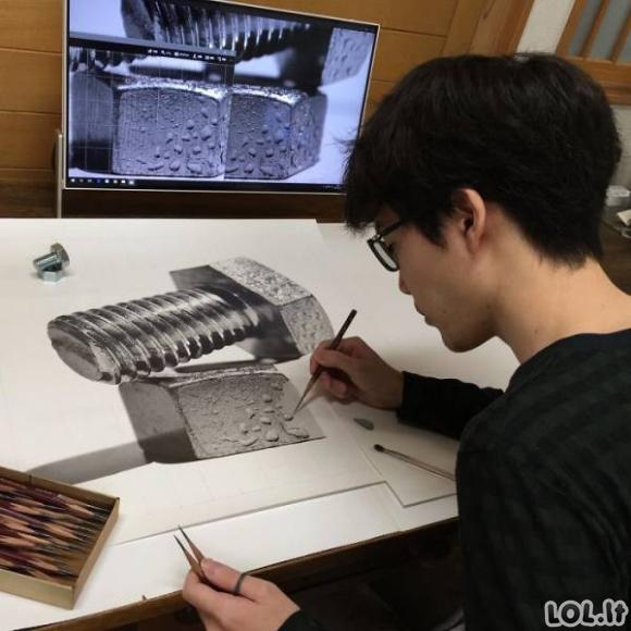 Neįtikėtini piešiniai pieštuku