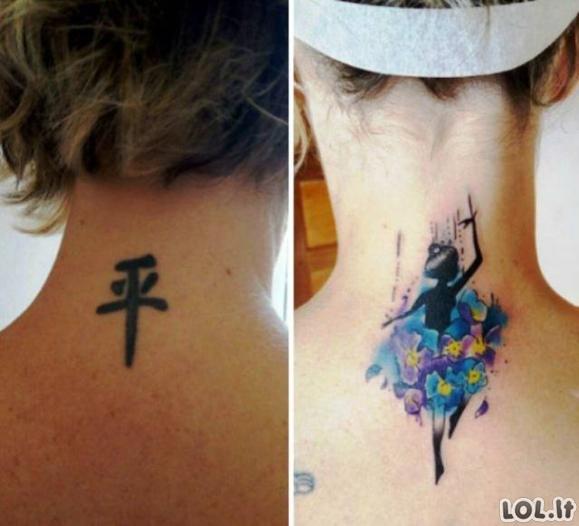 Baisios tatuiruotės, kurias pavyko sėkmingai pataisyti