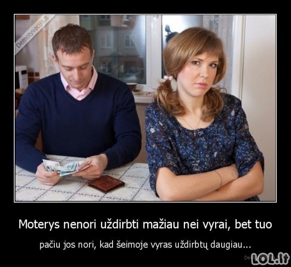Dilema dėl vyrų atlyginimų
