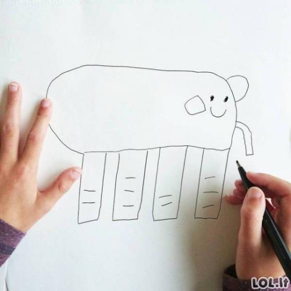Jei vaikai piešiniai būtų realybė