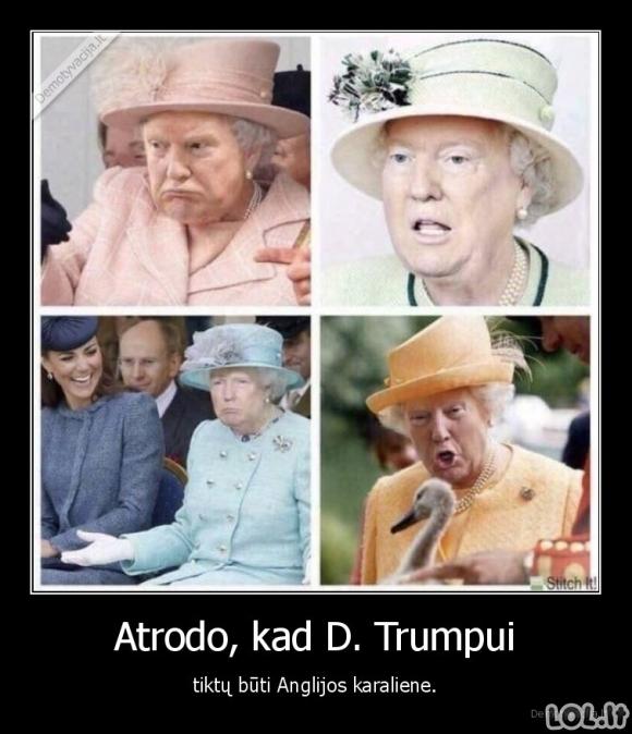 Amerikietiška Anglijso karalienė