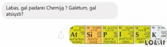Chemijos pamokėlė