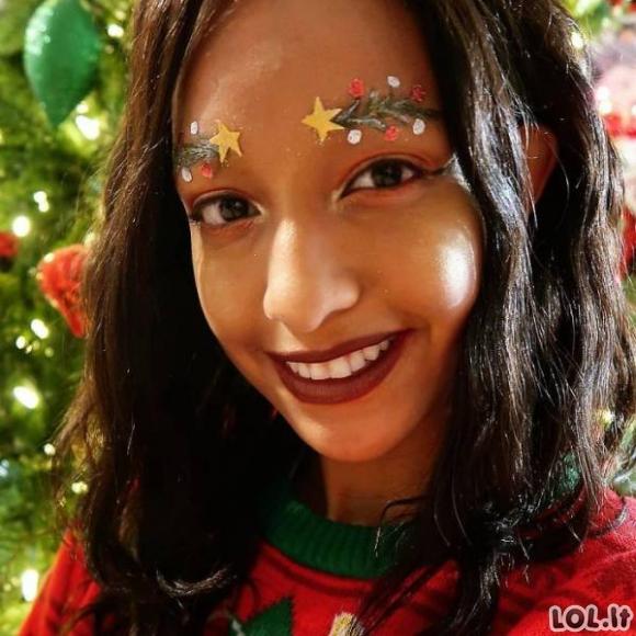 Kalėdinė antakių mada