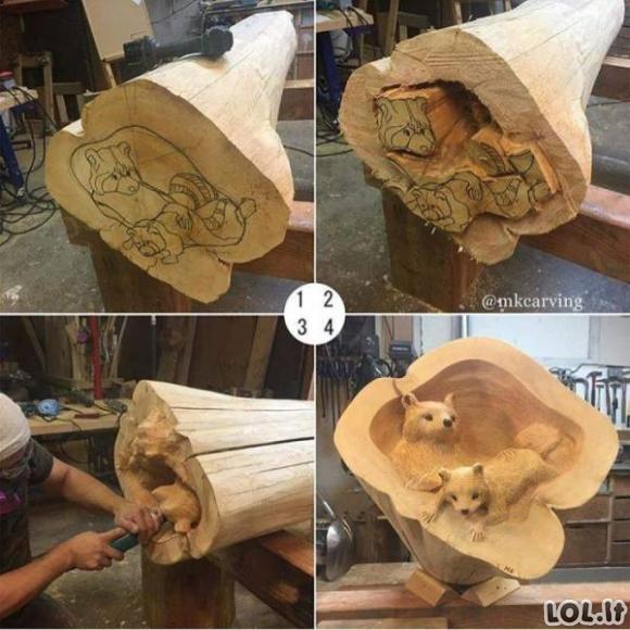Medžio darbai, kurie atrodo tiesiog stulbinamai