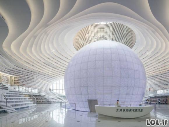 Kinijos biblioteka - tikras architektūros stebuklas