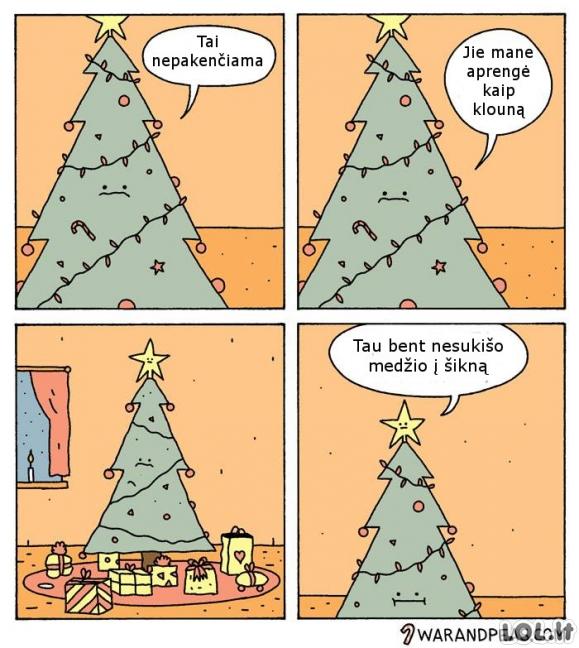 Kalėdų eglutės dejonės