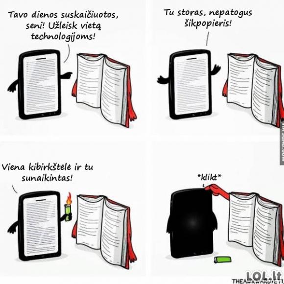 Popierinių knygų destrukcija