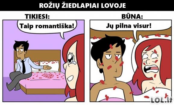 Romantiško gyvenimo poroje tikimybė ir realybė