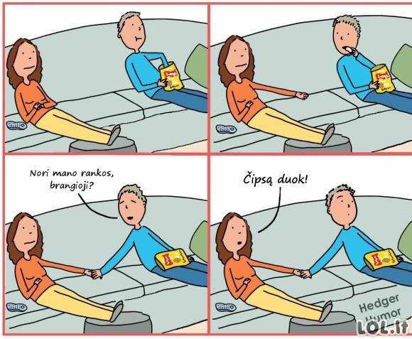 Romantika žiūrint filmą
