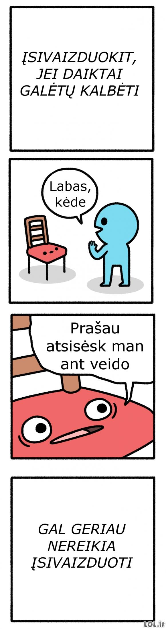Kalbanti kėdė