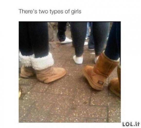 """""""Yra dviejų tipų merginos"""" galerija"""