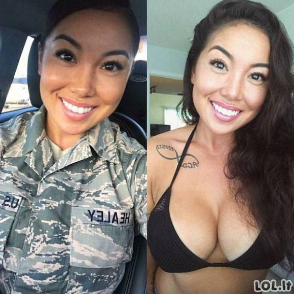 Kai po uniforma slepiasi tikras grožis [GALERIJA]