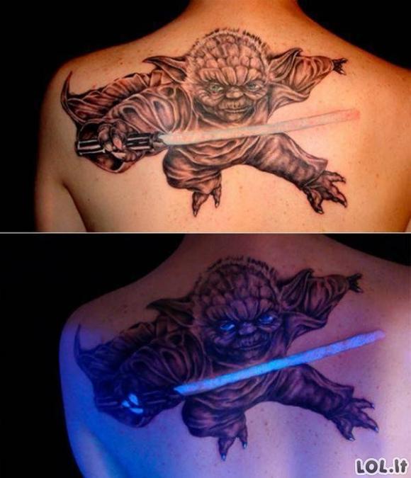 Ypatingos tatuiruotės ultravioletinėje šviesoje