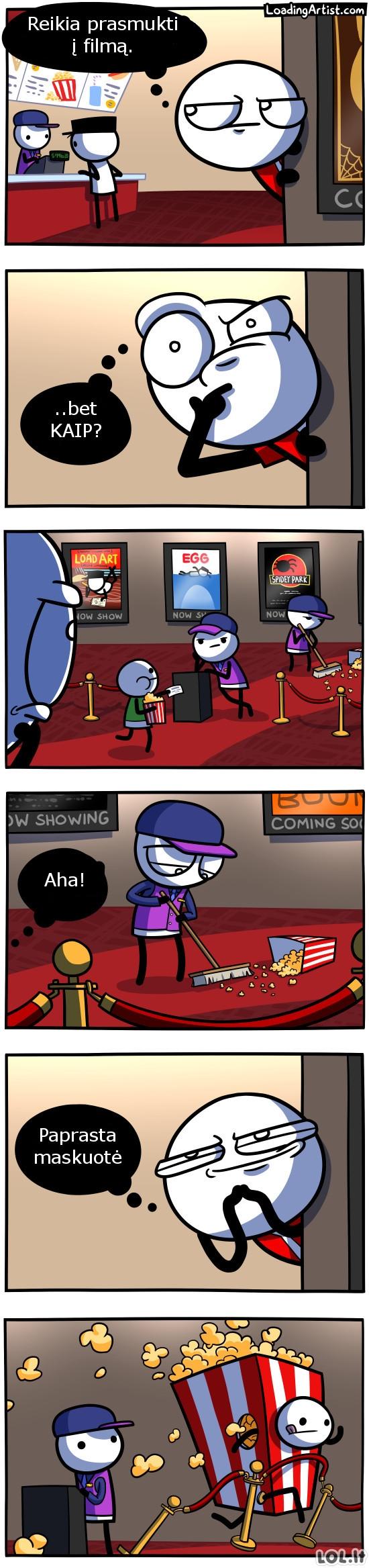 Kaip prasmukti į filmus