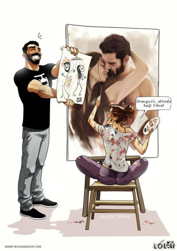 Poros santykiai šmaikščiose iliustracijose [22 FOTO]