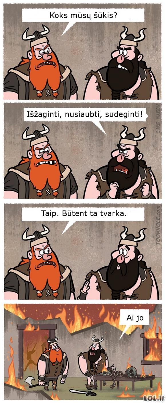 Užuomarša vikingas