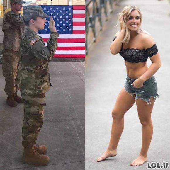 Kai po uniforma slepiasi tikros gražuolės [24 FOTO]