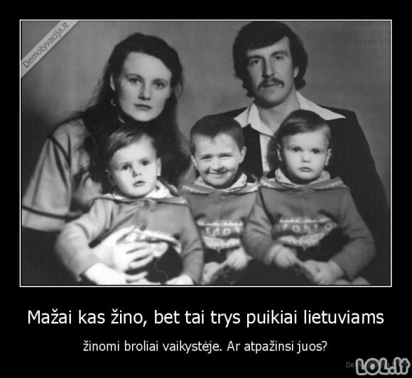 Trijų brolių vaikystės nuotrauka