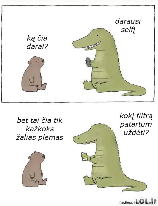 Tiranozauro selfis
