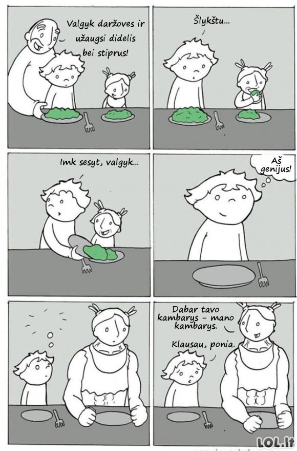 Kas nutinka, kai nevalgai daržovių?