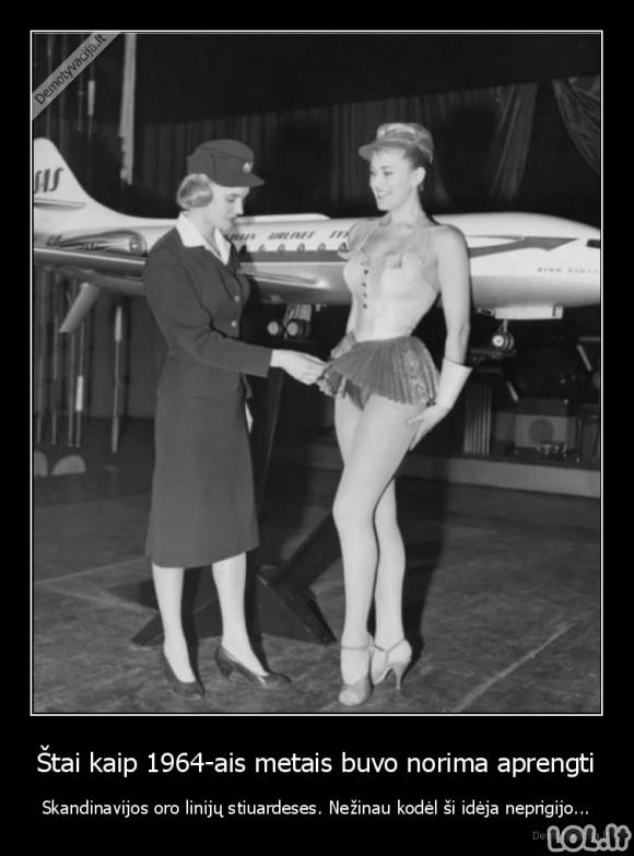 Senovinė stiuardesių apranga