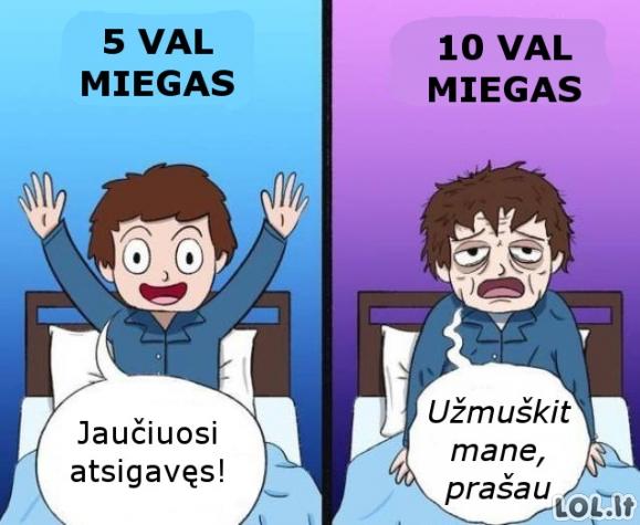 Skirtingas miegas