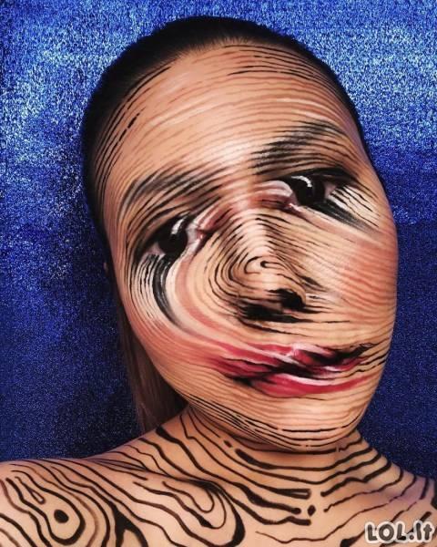 Neįtikėtinos veido transformacijos su makiažo pagalba [43 FOTO]